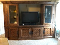 5 piece entertainment center - tv not included.  5th piece not shown - media shelf. OBO Fishers, 46037