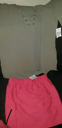 New with  tags pink mini  and olive green blouse  St. Catharines, L2M 4G1