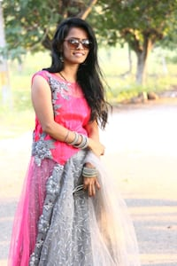 women's pink and grey floral dress Hyderabad, 500035