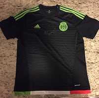 Mexico soccer jersey signed
