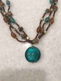 Turquoise & brown necklace Calgary, T2E 0H4