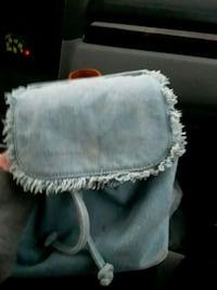Jean draw string purse null
