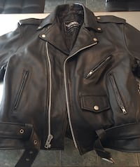 Mans Black Leather Jacket Jacksonville