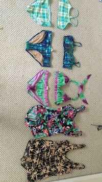 several assorted swimsuits