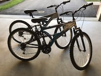 Black and white full-suspension mountain bikes Ashburn, 20148