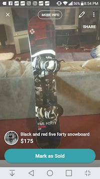 Five forty reverse 145 snowboard