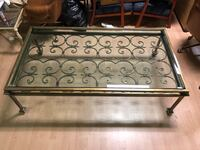 Designer Gold Wrought Iron Glass Top Coffee Table Vancouver, V5N 3X3