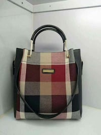 red and beige two way-handbag