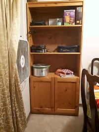 brown wooden cabinet with hutch Calgary, T2B 2M8