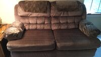 Brown and black fabric sectional sofa Prospect Heights, 60070