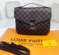 damier ebene Louis Vuitton leather crossbody bag 537 km