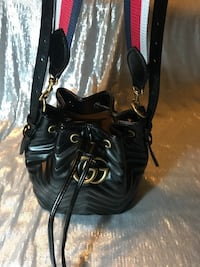 black leather crossbody bag with tassel Silver Spring, 20904