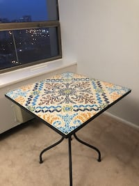 Mosaic iron patio bistro set (table and 2 chairs)