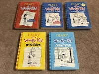 Diary Of A Wimpy Kid Books (5 total Books)
