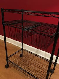 wire metal shelf on casters Chicago, 60605