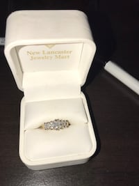 Silver and diamond ring in box cubic zirconia  Palmdale, 93551