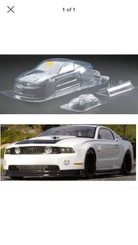 HPI 2011 Ford Mustang clear RC body 200mm Lodi, 95240