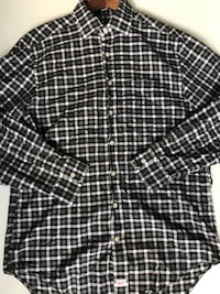 black and white button up long sleeve Austin, 78723