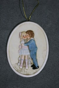 Schmid Vintage Christmas Ornament Boy Kissing Girl Toronto, M6M 1V7