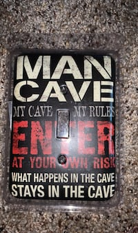 MANCAVE light switch cover