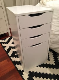Small white filing cabinet-OBO Springfield, 22151