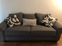 Black and grey couch w/ never used pull out bed!