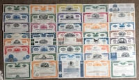 Collection of 40pcs. 1940s-1990s American Stock Certificates Calgary, T2R 0S8