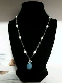 925 Sterling Silver Necklace &Authentic Gemestone Lynnwood, 98037