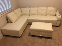Pure White Bonded Leather Sectional Sofa Couch - HOT ITEM!!! Houston, 77002