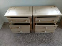 Two beige wood night tables pick up only Fairfax, 22031