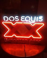 Dos Equis neon signage