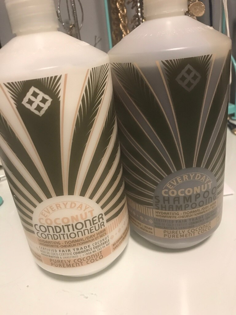 Everyday Coconut conditioner and shampoo