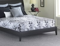 Queen Black Wood Platform Bed Frame New Lake Forest