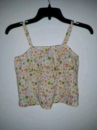 green and pink floral spaghetti strap top Pelzer, 29669