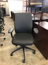 Knoll black leather office chair  Houston, 77022