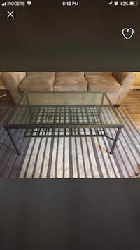 Black Steel frame glass top coffee table Mississauga, L5A 2G4