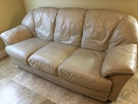 Beige leather 3-seat sofa Clermont, 34714