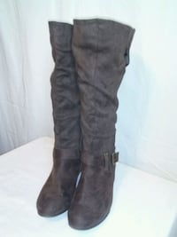 Brown wide Legs Boots size 11w 3155 km