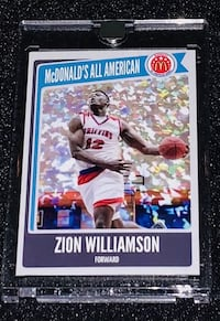 Zion Williamson McDonald's All America Cracked Ice Rookie Card Chicago, 60611