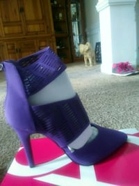 pair of purple leather platform stiletto shoes Hinesville, 31313