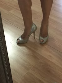 Guess By Marciano nude heels. Size 6. $10