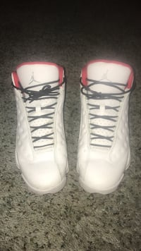 pair of white-and-red Air Jordan basketball shoes Naples, 34119