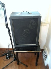black and gray guitar amplifier Buffalo, 14215