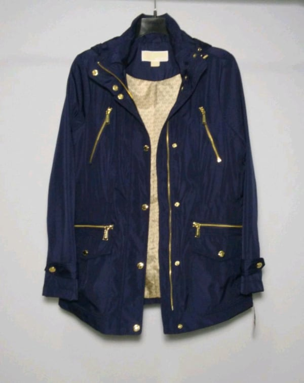 Michael Kors rain coat. Size S. Navy blue. New with tags. Retail $220. a4afd771-a267-4e30-bc37-94a19b36ba68