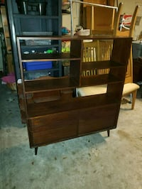 Mid century style shelving unit w/storage Gainesville