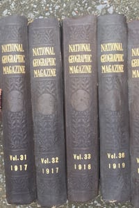21 National Geographic books 1917-1931