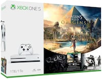 Xbox One S 1TB Assassins Creed Origins-used like new