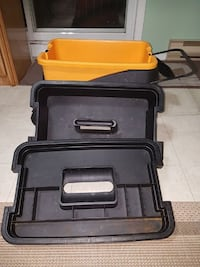 three black and yellow plastic cases for tools Laval, H7S 2L1