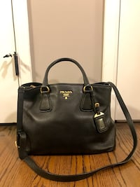 AUTHENTIC PRADA FROM ITALY vitello daino leather large side zip shopping tote Falls Church, 22042