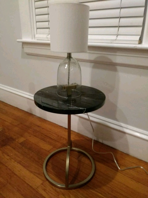 half off dc761 ce911 New West Elm Marble and Brass Side Table